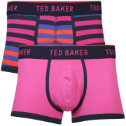 Ted Baker Tupack Plain and Stripe Moulded Front Boxer - Fuchsia