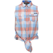 Tokyo Laundry Women's June Checked Shirt - Laundered Coral