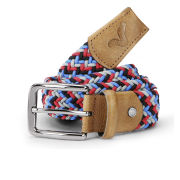 Voi Men's Donald Nylon Weave Belt - Red/Insignia Blue