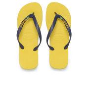 Havaianas Men's Brazil Logo Flip Flops - Citrus Yellow