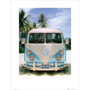 VW Californian Camper Beach - 60 x 80cm Print