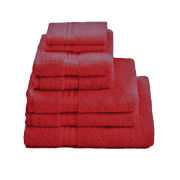 Restmor 100% Egyptian Cotton 7 Piece Supreme Towel Bale Set - Red