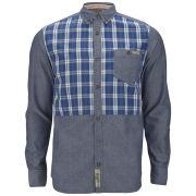 Tokyo Laundry Men's Azzad Check Yoke Shirt - Sapphire