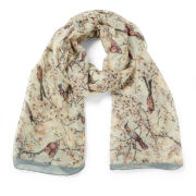 Impulse Women's Bird Print Scarf - Cream/Multi