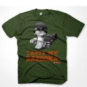 Worms Men's T-Shirt - Taste Me Bazooka - Green