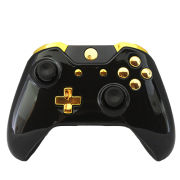 Official Xbox One Wireless Custom Controller - Gold on Gloss Black