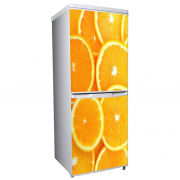 Oranges Two-Door Fridge or Freezer Vinyl Wrap