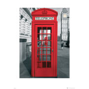London Telephone Box - 60 x 80cm Print