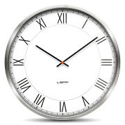 LEFF Amsterdam One 55cm Wall Clock - Stainless Steel White Roman