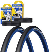 Michelin Pro 4 Comp Clincher Road Tyre Twin Pack with 2 Free Tubes - Blue 700c x 23mm