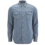 Levi's Men's Slim Fit Long Sleeve Truckee Western Shirt - Stonewash
