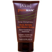 A'Kin Pureman Dual Action Face Wash + Scrub (75ml)