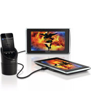 Philips PV9002i/12 In-Car Twin Screen 9 Inch Portable Video Player for iPod/iPhone/iPad