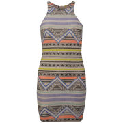 Glamorous Women's Aztec Bodycon Dress - Multi