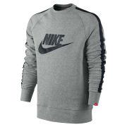Nike Men's AW 77 Tape Logo Crew Neck Sweater - Grey