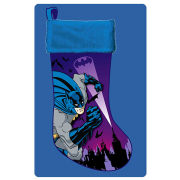 Batman Blue Applique Christmas Stocking