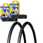 Michelin Pro 4 Comp Clincher Road Tyre Twin Pack with 2 Free Tubes - Limited Edition Black 700c x 23mm