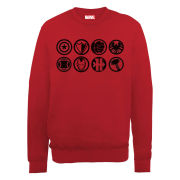 Marvel Avengers Assemble Team Icons Men's Sweatshirt - Red