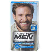 Just for Men Beard and Moustache Colour Gel Light Medium Brown
