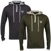 Ringspun Men's 2-Pack Oracle Long Sleeve Hooded T-Shirt - Khaki/Charcoal