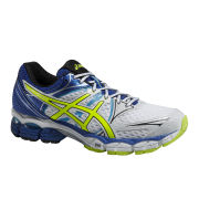 Asics Men's Gel Pulse 6 Cushioning Running Shoes - White/Flash Yellow/Blue