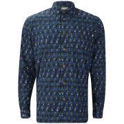 Farah 1920s Men's Darwell Long Sleeve Shirt - Indigo