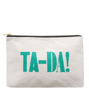 Alphabet Bags 'TA DA!' Canvas Pouch - Cream