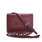 By Malene Birger Women's Niccon Leather Fringe Crossbody Bag - Red