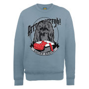Star Wars - Christmas Chewbacca Socks Again Sweatshirt - Indigo Blue