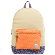 Herschel Settlement Backpack - Khaki/Orange Polka Dot/Purple Leopard
