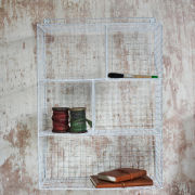 Nkuku Locker Room Shelf - Distressed White - 46cm(W) x 66cm(H) x 18cm(D)