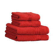 Restmor 100% Egyptian Cotton 4 Piece Supreme Towel Bale Set - Red
