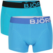 Bjorn Borg Men's Seasonal Solid 2-Pack Boxer Shorts - Bluebird