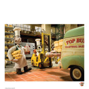 Wallace and Gromit Fine Art Print - Bakers at Work