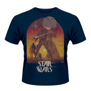 Star Wars Men's T-Shirt - Sunset Poster (Blue)