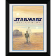 "Star Wars Blu Ray Saga - 8"""" x 6"""" Framed Photographic"