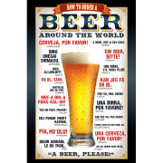 Beer How to order - Maxi Poster - 61 x 91.5cm