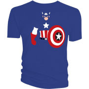 Captain America Vector T-Shirt - Blue