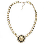 Impulse Women's Circle Chain Necklace - Gold