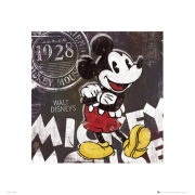 Mickey Mouse Chalk 40 x 4cm Print