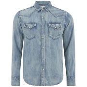 REPLAY Men's Western Denim Shirt - Light Blue