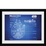 Star Wars Millennium Falcon Blueprint - 30x40 Collector Prints