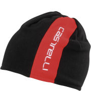 Castelli Unisex Reversible 2 Beanie - Black/Grey Inside Black/Red
