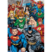 DC Comics Collage - Metallic Poster - 29 x 42cm