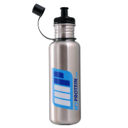 Myprotein Stainless Steel Sports Bottle Brushed Stainless Steel