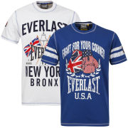 Everlast Men's 2-Pack T-Shirts - White/Royal