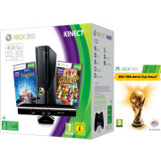 Xbox 360 4GB Kinect Holiday Bundle (Includes 2014 FIFA World Cup  Kinect Adventures  Kinect Disney Land Adventures  1 Month Xbox Live)