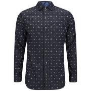 Vivienne Westwood Anglomania Men's Three Button Krall Kimono Orb Shirt - Print Blue