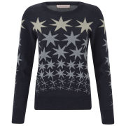 Matthew Williamson Women's Star Jacquard Knitted Jumper - Midnight