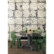 Brooklyn Tins Wallpaper by Merci - Off White